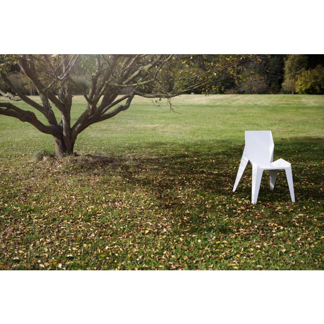 2010s Origami Inspired Edge White Chair | Indoor & Outdoor Chair For Sale - Image 5 of 9