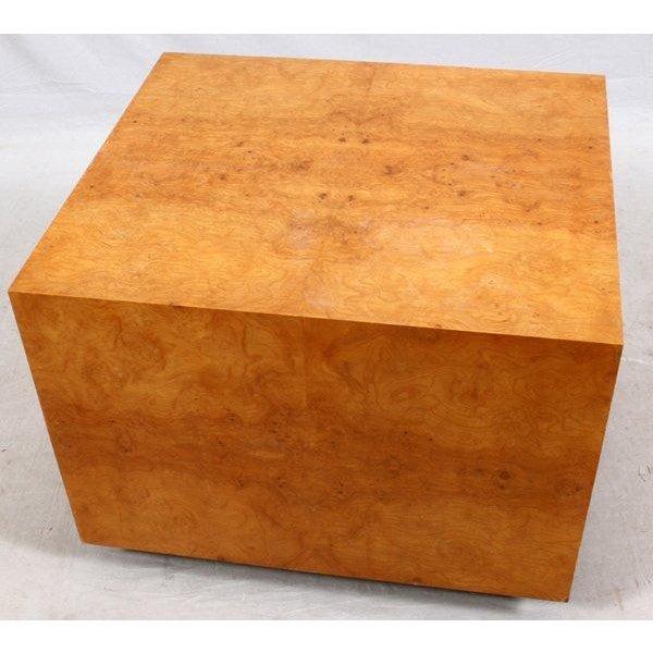Mid-Century Olive Burl Pedestal Table - Image 3 of 7