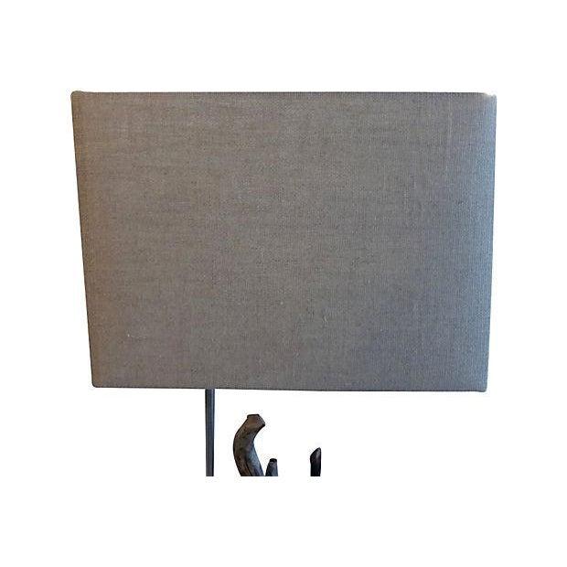 Custom Driftwood Floor Lamp For Sale - Image 5 of 6