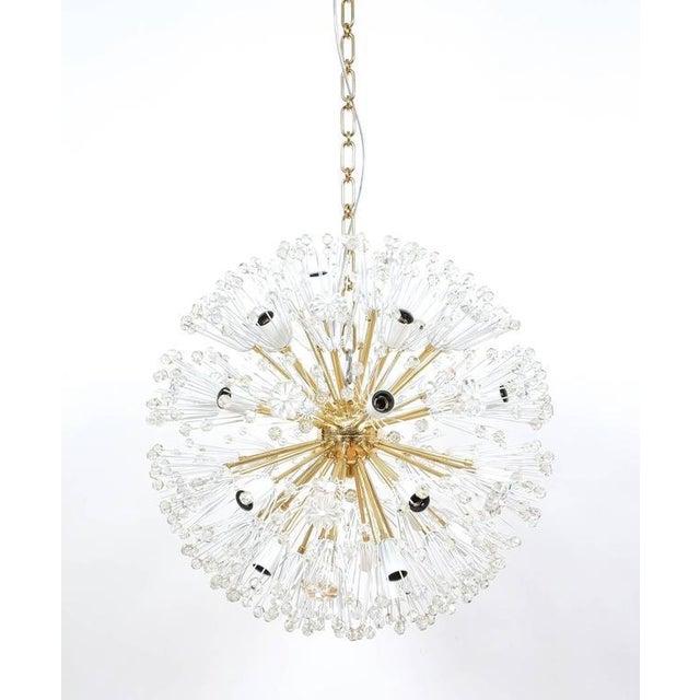 Gold Refurbished Pair Of Large Emil Stejnar Starburst Chandeliers Lamps For Sale - Image 8 of 9