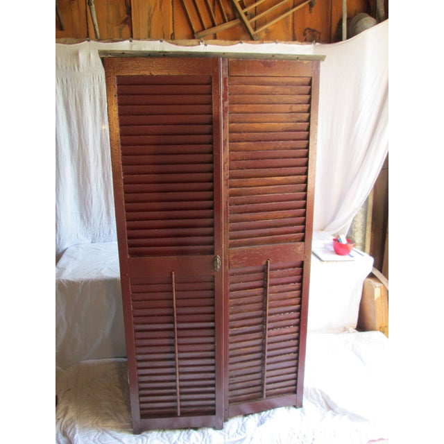 Upcycled Shutter Armoire - Image 2 of 7