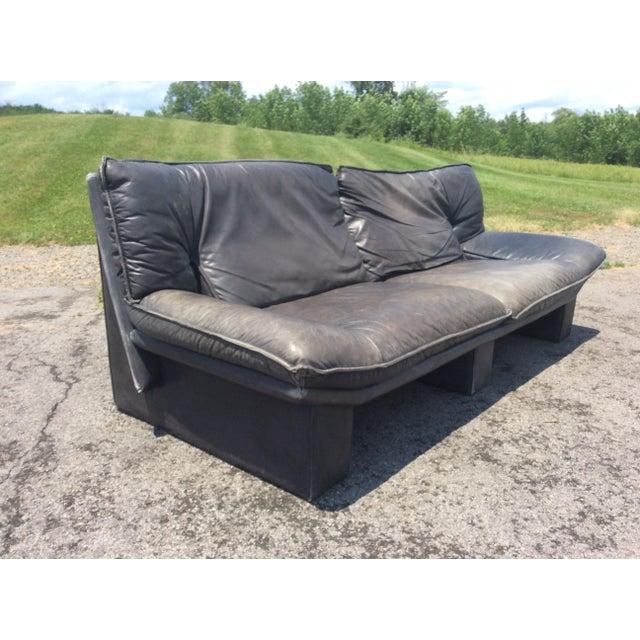 Nicoletti Salotti De Sede Italian Leather Sofa   Chairish