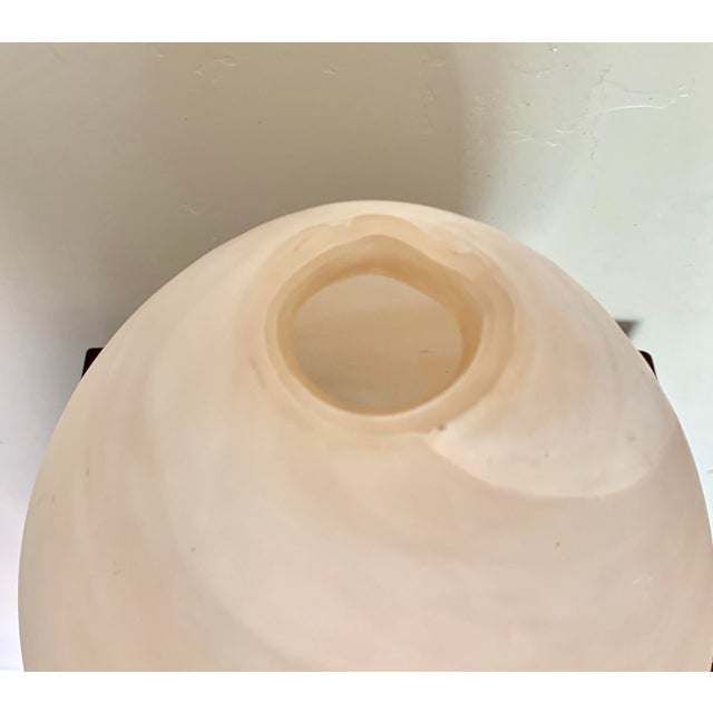 Minimalist Egg Shaped Faux Marble Organic Glass Vase For Sale - Image 4 of 6