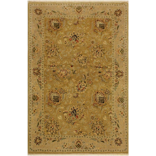Gold Semi Antique Istanbul Latrice Gold/Gray Turkish Hand-Knotted Rug -4'4 X 6'2 For Sale - Image 8 of 8