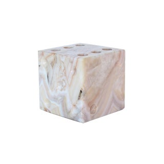 Cube Marble Pencil Holder