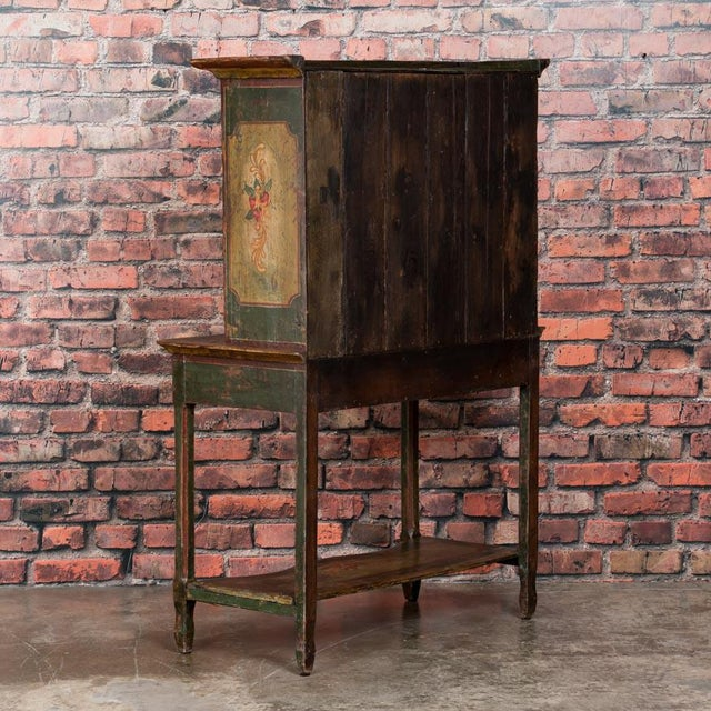 20th Century Traditional Two Door Hand Painted Cabinet For Sale - Image 4 of 9