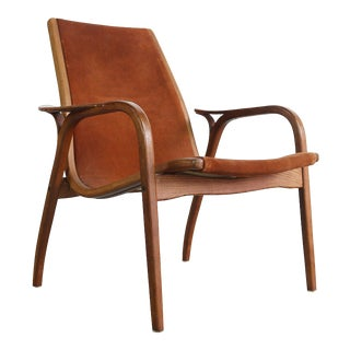 Lamino Chair in Original Suede Leather by Yngve Ekström for Swedese, Sweden For Sale