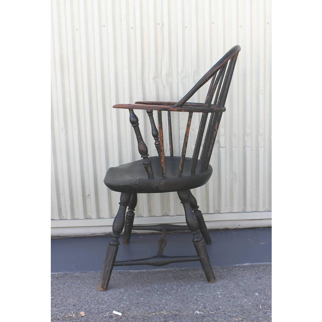 18th Century Original Painted and Signed New England Windsor Armchair - Image 8 of 10