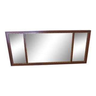 Vintage 18th Century Style Three Part Mahogany Mantle Mirror For Sale