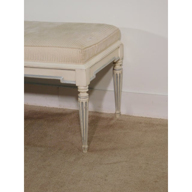 French Baker Furniture Company French Louis XVI End of Bed Fluted Leg Bench For Sale - Image 3 of 13