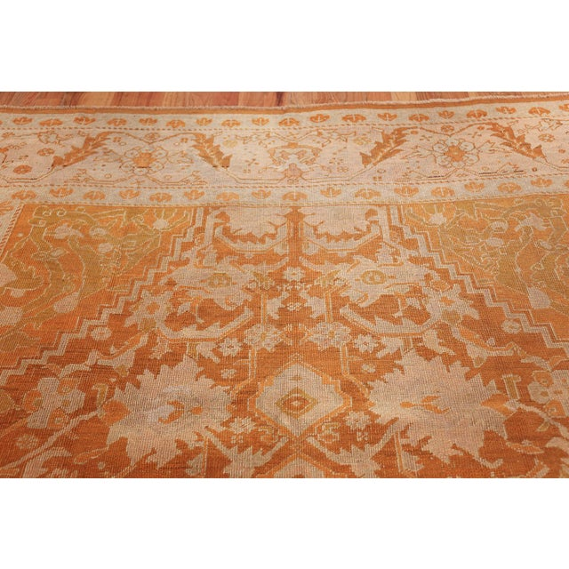 Early 20th Century Antique Turkish Oushak Rug - 9′ × 12′ For Sale - Image 5 of 12