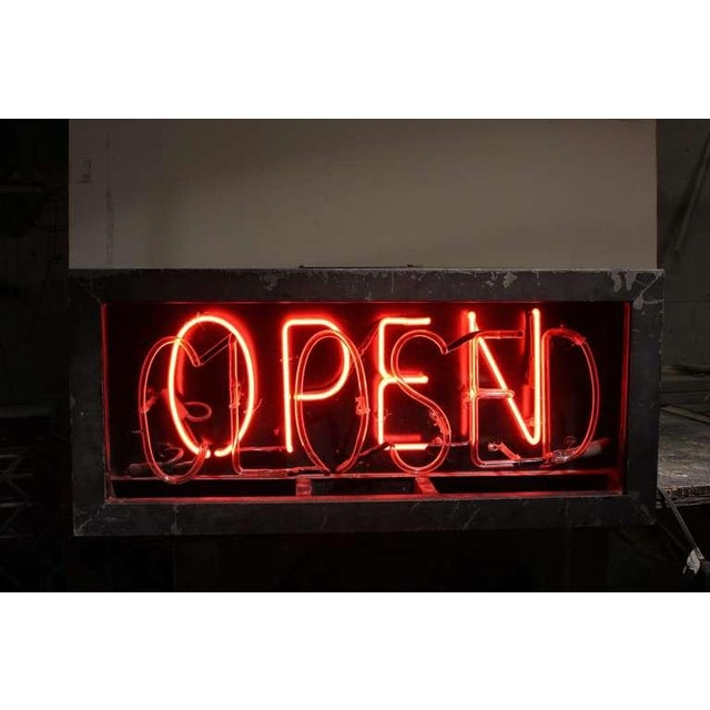 Industrial 1930's Vintage Neon Open/Closed Sign For Sale - Image 3 of 4