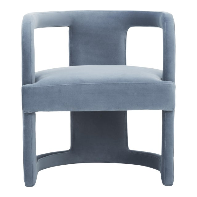 Rory Side Chair in Dust Blue For Sale