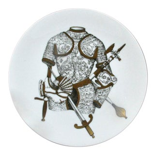 Set of 6 Piero Fornasetti Plates in Armature Pattern