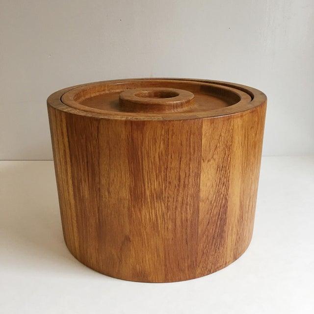 Danish Modern Dansk Teak Ice Bucket & Tongs - A Pair For Sale - Image 3 of 5