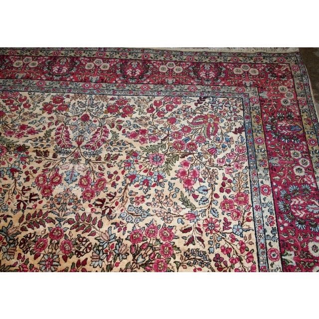 Textile 1900s, Handmade Antique Persian Kerman Lavar Rug 8.9' X 11.6' - 1b701 For Sale - Image 7 of 13