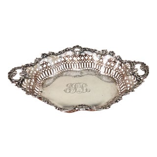 Sterling Fruit Basket, Ca.1910. Made by Theodore B. Starr, NY For Sale