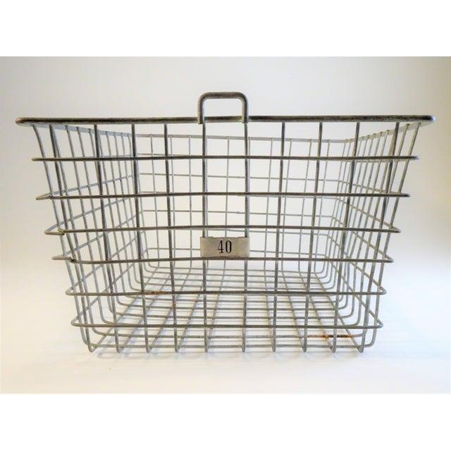1940s Vintage Wire Locker Baskets - Set of 3 For Sale - Image 5 of 11