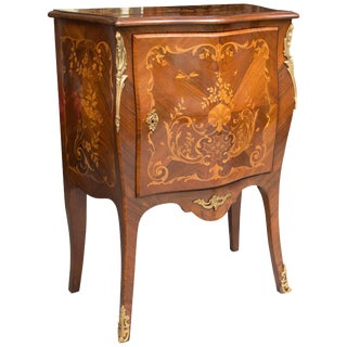 French Louis XV Marquetry Single-Door Cabinet For Sale