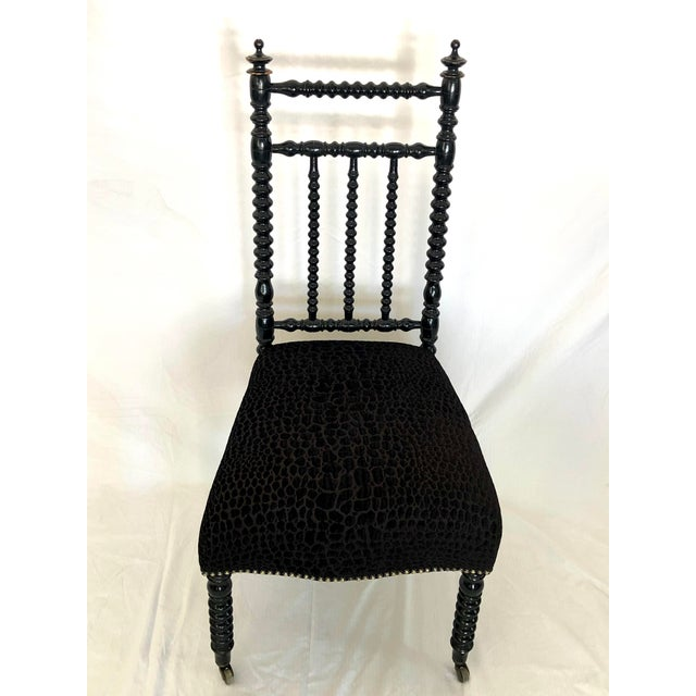 Antique French Prayer Chair For Sale In Los Angeles - Image 6 of 8