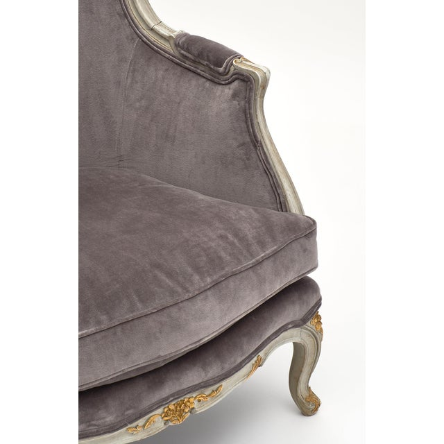 Beech Louis XV Style French Bergère Chairs - a Pair For Sale - Image 7 of 12