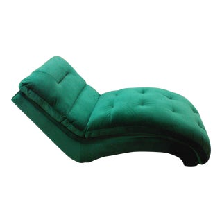 Emerald Green Chaise Lounge For Sale