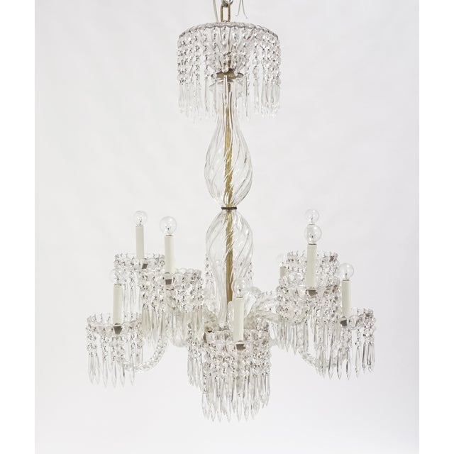Baccarat Antique Baccarat Undulating 10-Armed Crystal Waterfalls Chandelier For Sale - Image 4 of 8