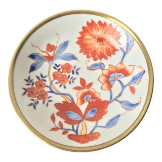 Japanese Porcelain Ware Brass Cased Dish Decorated in Hong Kong For Sale