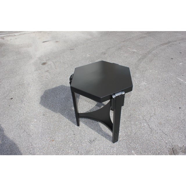 1940s French Art Deco Black Ebonized Coffee Table For Sale In Miami - Image 6 of 13