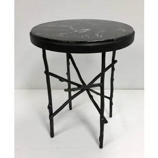 Modern Bronze and Portoto Marble Round Side Table Preview