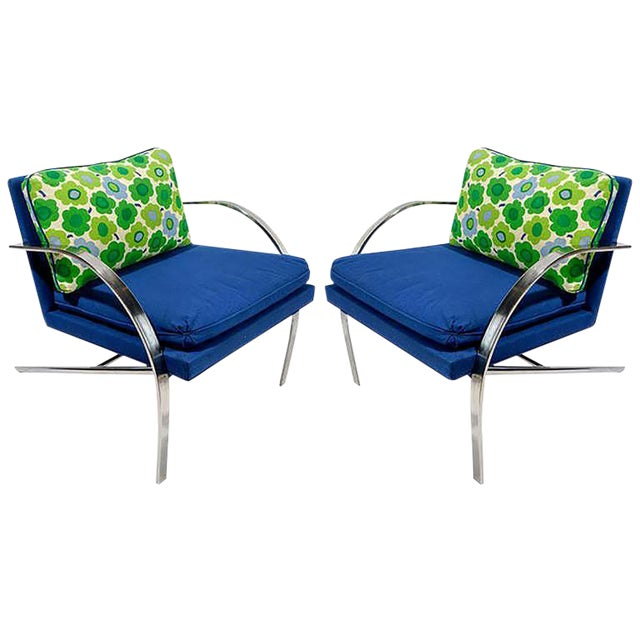 """Pair of """"Arco"""" Club Chairs In The Style Of Paul Tuttle For Sale"""