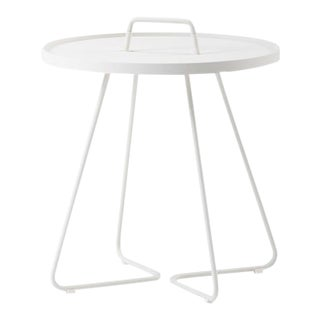 Cane-Line On-The-Move Side Table, Large, White For Sale