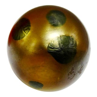 1910s Favrile Glass Paperweight, Signed Tiffany For Sale