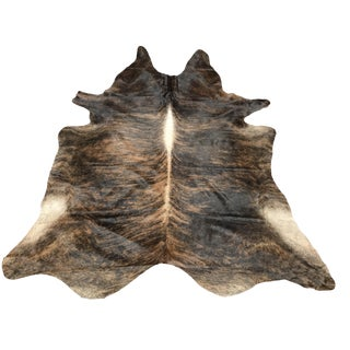Contemporary All Brindle Cowhide Rug For Sale
