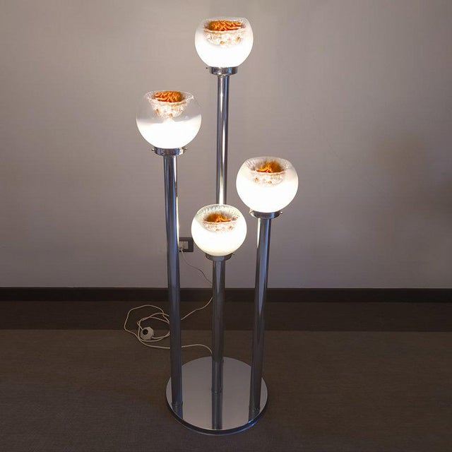 1970s Italian Sculptural Murano Glass Floor Lamp by Toni Zuccheri for VeArt For Sale - Image 6 of 12