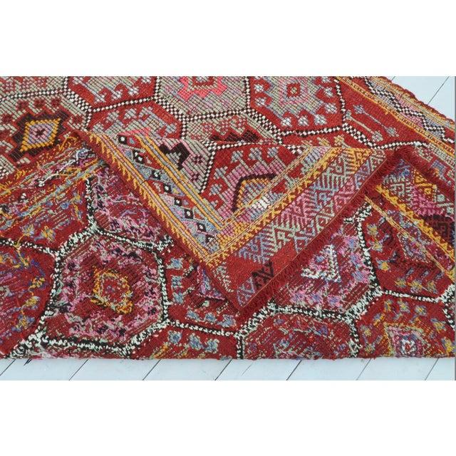 Bohemia Vintage Turkish Fethiye Nomad's Flat Weave Rug For Sale - Image 4 of 12