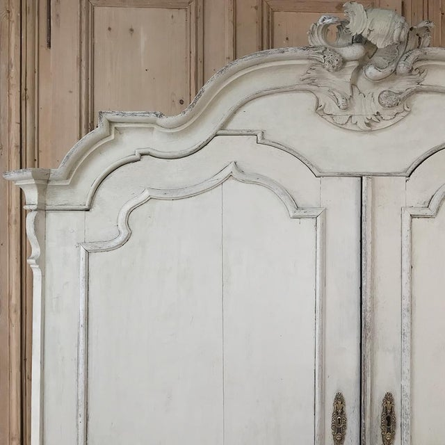 Late 18th Century 18th Century Dutch Painted Wardrobe For Sale - Image 5 of 13