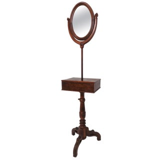 Antique Early 19th Century Chippendale Mahogany Shaving Stand For Sale