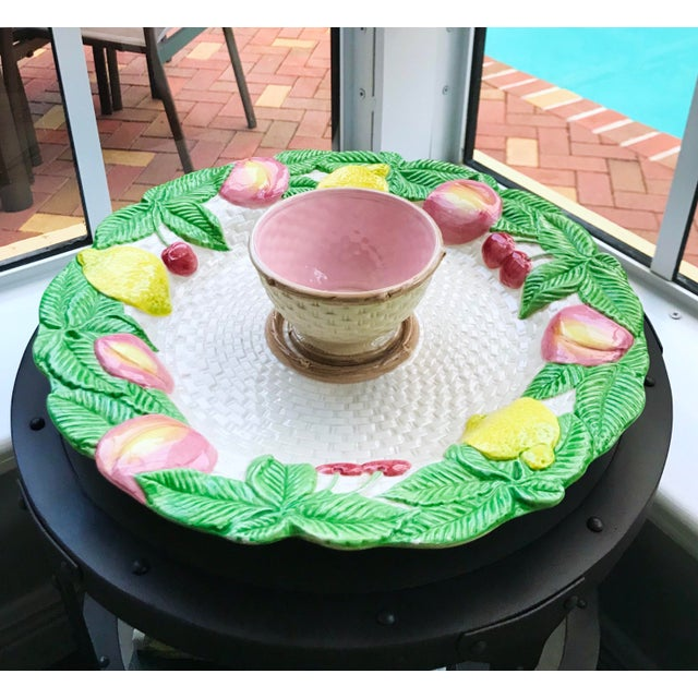 "Vintage Fitz and Floyd serving platter from the discontinued 1990 ""Fruit Fair"" collection. Perfect for serving chips and..."