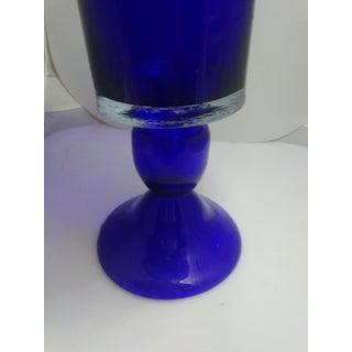Mid Century Colbalt Blue Trumpet Style Vase Preview