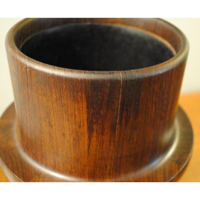 Wenge Rare Dansk Wenge Wood Ice Bucket by Jens Quistgaard For Sale - Image 7 of 13