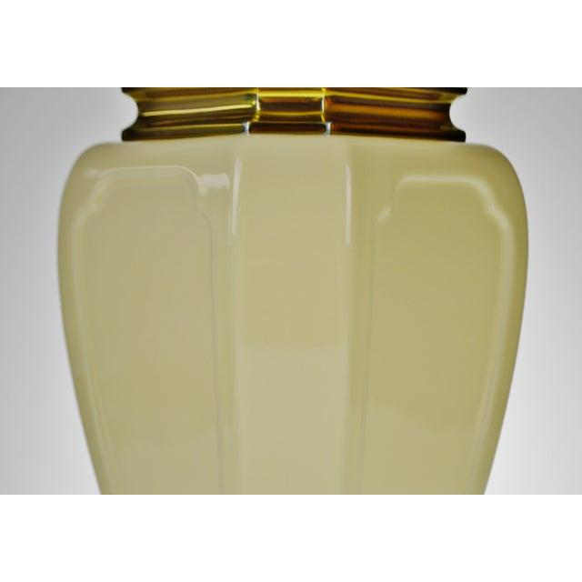 Ceramic Vintage Stiffel Porcelain & Brass Table Lamp For Sale - Image 7 of 10
