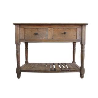 Primitive Pine Console Table