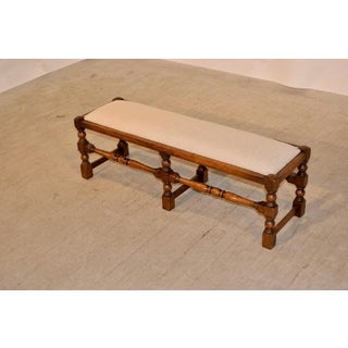 19th Century English Upholstered Low Bench Preview