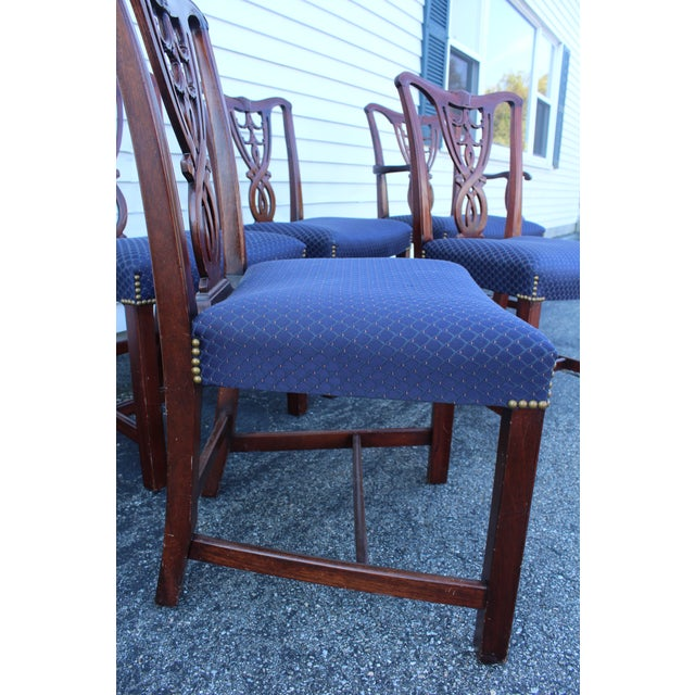 Mid 20th Century Vintage Mid Century Blue Dining Chairs- Set of 6 For Sale - Image 5 of 11