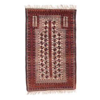 """Antique Balouch Persian Rug-3' X 4'10"""" For Sale"""