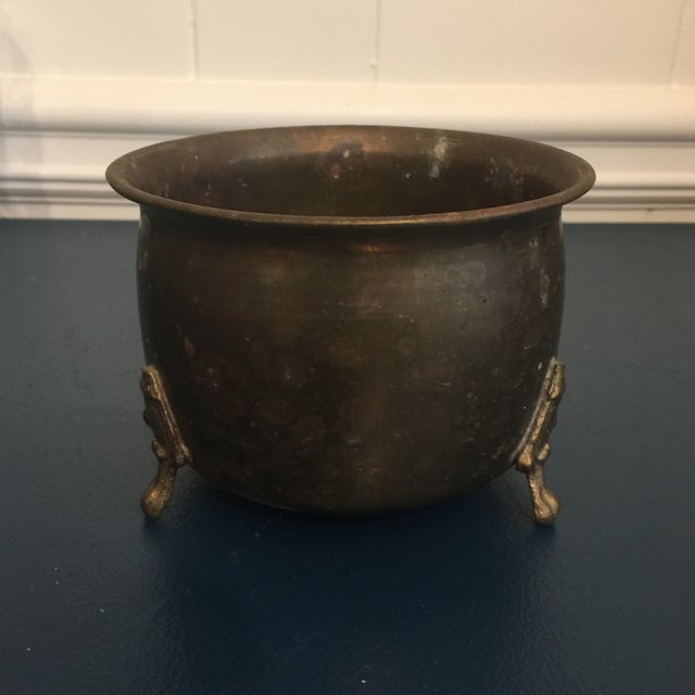 Simple and traditional brass plant container! Found in a small antique shop in South Georgia, USA.