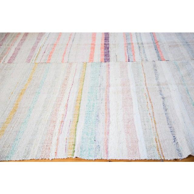 "Vintage Rag Rug Carpet - 6'11"" X 9'6"""