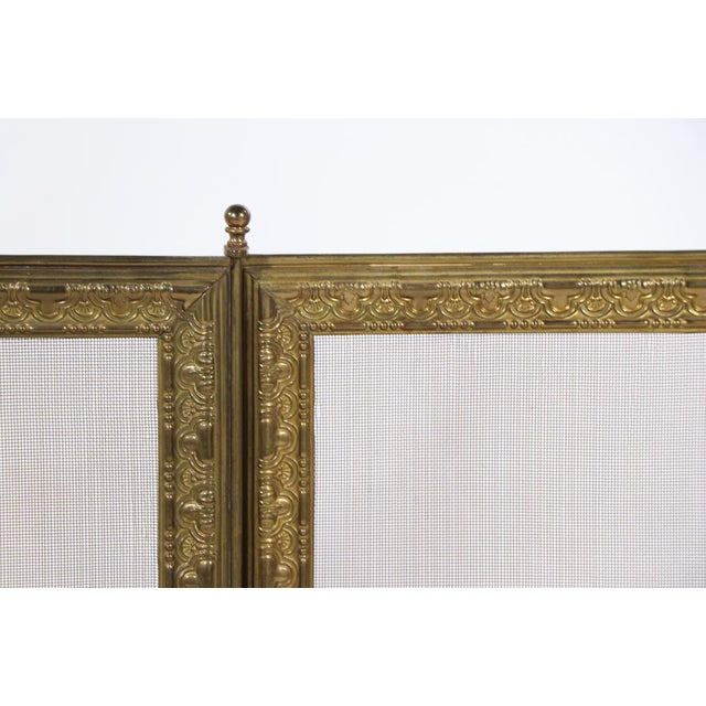 French Folding Fireplace Screen Spark Gard For Sale - Image 10 of 13