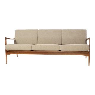 1950s Vintage Ib Kofod-Larsen for Ope Mobler Kandidaten Walnut Sofa For Sale